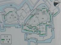 koukyo095b.JPG 皇居東御苑 櫓と多聞の配置図